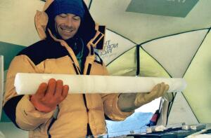 Ice core drilled at ILLIMANI (Bolivia)